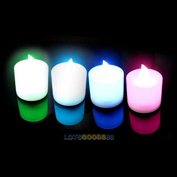 New 7 Color LED Changing Electronic Flameless Candle Lamp(China (Mainland))