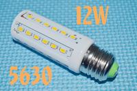 Free Shipping 12W B22 42 LED SMD LED BULB 5630 Warm White cool white 110V or 220V AC E27 10W 42 LED  led Bulb Lamp