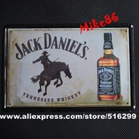 [ Mike86 ] Tennessee Whiskey Jack Retro Tin sign Art  wall decor Cafe Bar Vintage Metal signs A-289 Mix order 20*30 CM