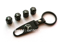 4 X Fancy Valve Tire Wheel Decorated Caps With One Wrench Keychain For Benz