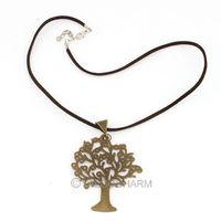 8pcs Elegant Retro Bronze big tree Pendant 6.4*5.5cm Alloy girls Flocking necklace 61790