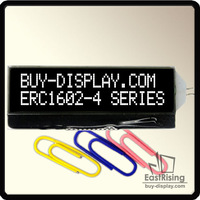 Free Shipping,2pcs/lot,16x2 Serial COG Character LCD Module with Metal Pins White on Black