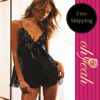 Hot Sale Lovely Babydoll Evening Dress SizeXL,2XL,3XL Plus Size Lace Lingeries Chemise Sexy Club Wear Lingerie     R74951P