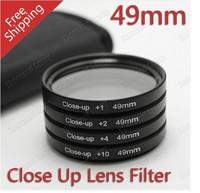 100% GUARANTEE 49mm +1+2+4+10 Close Up LENS Filter kit MACRO Close-Up for canon nikon sony pentax