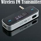 Wireless 3.5mm Car FM Transmitter For iPod iPad iPhone 4 4S 5 Galaxy S2 S3 HTC Free Shipping & Drop Shipping(China (Mainland))