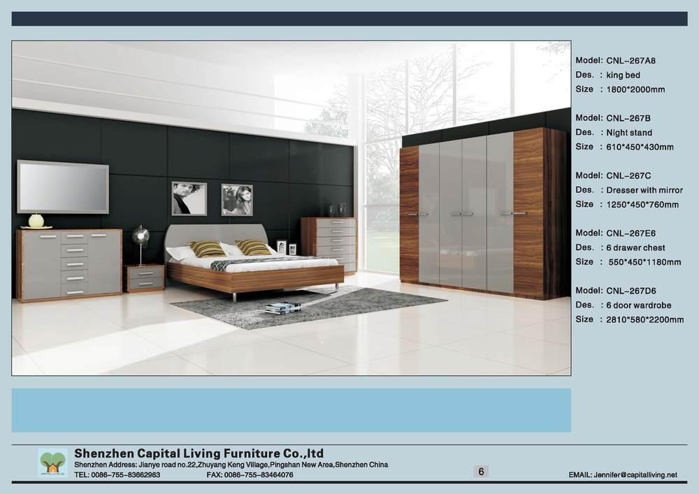 Oliver melamine white hg met modern design slaapkamer set meubilair in producten summatytijdperk - Modern slaapkamer modern design ...