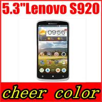"Original Lenovo S920 Phone Russian Menu 3G 5.3"" IPS Screen Android 4.2 MTK6589 Quad Core Dual SIM 3G WIFI GPS Root Mobile Phone"
