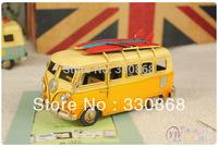 Metal craft car beach theme event props iron crafts home decoration vintage canducum the publicvehicle classic bus