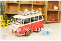 Metal craft van handmade iron model vintage decoration vw bus Metal van event decoration
