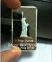 NON magnetic + ONE troy ounce metal silver bullion coins DHL free shipping 50pcs/lot germany torch silver bars