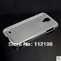 500pcs/lot Clear Crystal Transparent Plastic Hard Case Back Cover for Samsung S4 i9500 Mobile Phone Cases Black White Clear