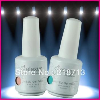 252 Fashion Colors Hot Sale Soak Off UV Gel Nail Polish 12Pcs/Lot (10pcs color gel+1pc base +1pc top coat) Free Shipping