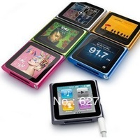 Free shipping For apple   6 mp3 a screen clip square-fashion mp4 clip mp4 mp3 touch screen player