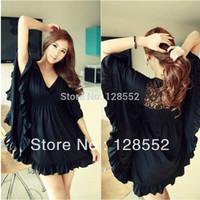 Free Shipping New 2015 Bust 120 Big Size Black Clothing Summer Female One-piece Dress xxxl Clothing