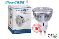 Viva-CREE@2pcs/led GU10 E14 E27 3X3W 9W 50W / 4X3W 12W 80W dimmable High power CREE Light LED Bulb Lamp Downlight
