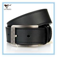 New Style Certified Genuine Leather Men Pin Buckle Straps  Cowskin Split Leather Men Black Waist  Belts Alloy Buckle 7A127236000