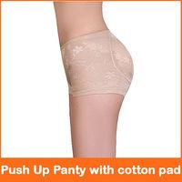 wholesale and retail Hip Shaper Buttock Lift Push Up Panty with cotton pad beige black M,L,XL,XXL 2pcs/lot