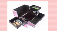 Free shipping Large professional cosmetics multi-layer large capacity portable cosmetics storage box beauty case
