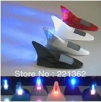 8LED 11 Flash Modes LED Light Solar Power Car Auto Flash Warning Alarm Tail Light Shark Fin Style antenna tail warning light