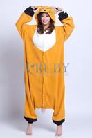 Free Shipping+New Adult Unisex Fashion Pajamas Cosplay Japan Costume Cute Cartoon Fox Animal Onesies Pyjamas Sleepwears