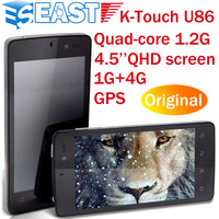 "In stock K-Touch U86 4.5"" Android 4.1 OS Snapdragon MSM8225Q Quad-core RAM 1GB+ROM 4GB dual sim card GPS WIFI"