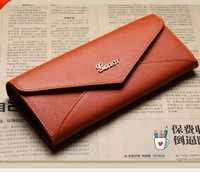 Free shipping women's wallet female genuine leather long design cowhide fashion wallet  waterproof  handbag