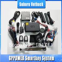 Free shipping, Subaru outback One way samrt key intelligent alarm system, keyless entry, remote kit, push start engine device