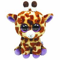 TY Beanie Boos Giraffe Plush Toys 15cm Ty Big Eyes Ty Plush Animals Brinquedos Kids Toys for Children Gift Free Shipping