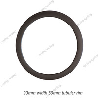 23mm width 50mm tubular carbon road bike rim,carbon bicycle rim,single rim