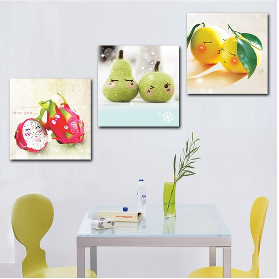Aliexpress Com Buy Happy Fruit 3 Hot Sell Modern Kitchen Wall Painting Home Decorative Art