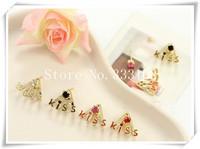 Small accessories kiss earring stud earring earrings