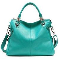 2013 New Fashion Women Leather Handbags Cowhide Leaher British Style Handbag Genuine Leather Vintage Bag Free Shipping