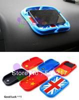 9pcs car china UK USA German Russia Flag Phone mat silicone flag mat car phone holder navigation pad holder anti-slip mat