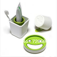 Min. Order is $10 ( Can Mix order ) ! A447 smiley shukoubei soap box dental cup home bathroom set piece