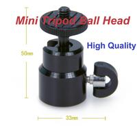 Free Shipping Brand New Universal 1PC Black Mini Tripod Ball Head Platform for DSLR and Camera Tripod
