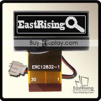 "Free Shipping,5pcs/lot,1.2"" inch 128x32 LCD Display Graphic COG Dot Matrix,White on Black Color"