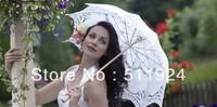 White Bridal Parasol Wedding Lace Umbrella  Marriage Favours Accessories  K0002