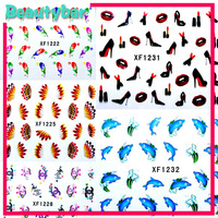 Freeshpping 100 Pcs/lot High Quality Fashion Accessories Decal Water TRansfer NAil Sticker for Nail Art Decoration