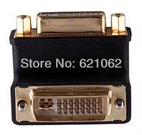 DVI 24+5 Male to DVI 24+5 Female 90 degree right angled VIDEO Converter Adapter