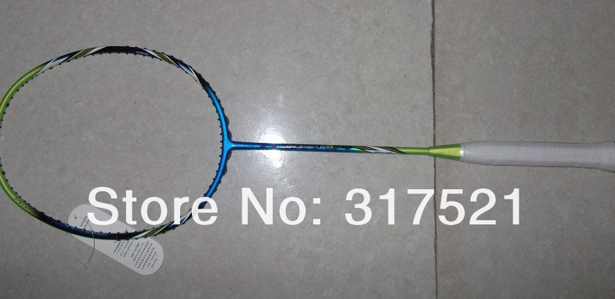 De carbono raqueta de bádminton arcsaber fb con la bolsa de bádminton 100% de fibra de carbono libre de envío de piezas de 10/lote, raqueta string libre