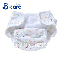 Free shipping 100% cotton Brands breathable baby Diaper Waterproof Pocket diapers leak-proof adjustable size training pants baby