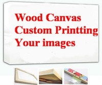 Your Photo Customize Custom Wood Art Wall Canvas Frame Abstract Landscape Combine Art Pictue 36x24,18x12,inch Decorate Prints