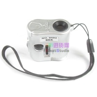 NO.9592.  60XMini Portable Microscope With LED light illuminate microscope , jewellery microscope 40/pcs free shipping