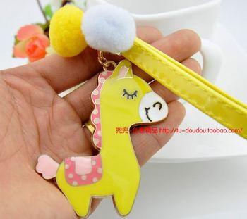 Cartoon  Pony keychain  car key chain bag pendant  jewelry  key ring