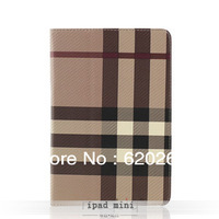 Free shipping Tablet case pc 7.9'' inch for ipad mini plaid protective cover  grace and elegant