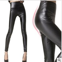 Color - Leather Slim Slim oumei light Imitation Leather Leggings Pants