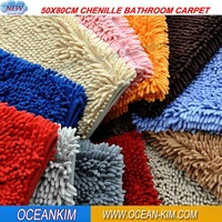 40x60cm Microfiber Chenille Carpets for Bedroom or Living Room Dust &Water Superabsorbent Machine Washable Luxury Packing
