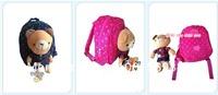 2013 backpack school bag bear doll cartoon infant ploughboys double-shoulder school bag