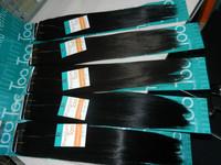 Free Shipping premium blend hair extensions premium yaki hair blended hair/mix hair #1B 10pcs