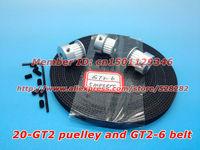 Hot sale 3 x Aluminum GT2 Pulley 5 meter GT2 open Belt for 3D printer  prusa mendel rostock reprap
